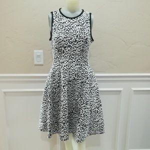 Kate spade black and white Cheetah dress
